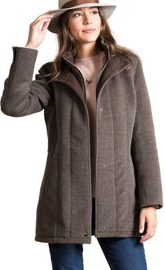 Overland Sheepskin Co Abbie Italian Alpaca and Virgin Wool Coat With Lambskin Leather Trim - best woman's fashion products designed to provide Coats For Women, Jackets For Women, Alpaca Wool, Warm Coat, Lambskin Leather, Womens Fashion, How To Wear, Women's Coats, Clothes