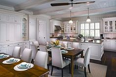 Love the two dining tables