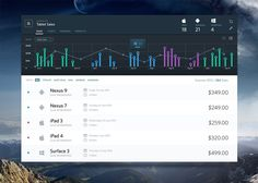 Sales Dashboard UI PSD