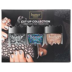 Deconstruct your lacquer with this new collection of glittering overcoats that transform your lacquer...