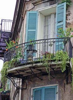 French Quarter, New Orleans, LA. There are definitely some quaint/nice looking townhouses in the French Quarter. -Teresa
