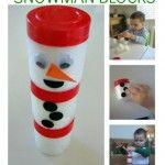 Spice Jar Snowman Blocks