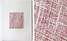Emily Barletta - Untitled 5 24x18 inches thread on paper