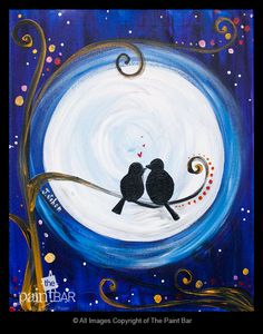 Love Birds Painting - Jackie Schon, The Paint Bar