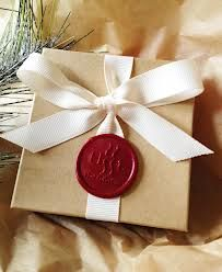 seal wax gift wrapping