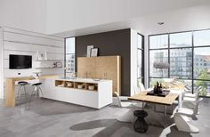 Moderne keuken in Scandinavische stijl