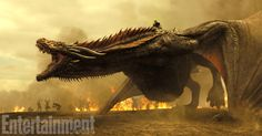 Dracarys! Daenerys dragons are enormous in season 7 and ready for war in this jaw dropping first look battle image more exclusive new photos ahead - A fresh look at the new season, which begins July 16 on HBO