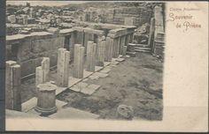1900s-TURKEY-AYDIN-PRIENE-IONIA-ANCIENT-CITY-THEATRE-RUINS-ARCHEOLOGY-PPC-3