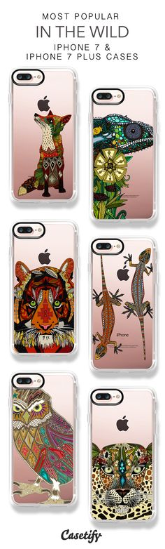 Most Popular In The Wild iPhone 7 Cases and iPhone 7 Plus Cases. More Animal iPhone case here > https://www.casetify.com/sharonturner/collection