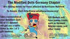Last day to enter The Modified Dolls Germany Chapter`s Raffle and get a chance or more to win a gift basket full of German/Belgian goodies! For more info, visit: https://www.facebook.com/events/224274787990456/ #ModifiedDolls #Germany #BuildingChapter #DoGoodFeelGood #HurricaneRelief