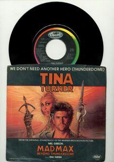 TINA TURNER - WE DON'T NEED ANOTHER HERO - MAD MAX - USED 45 RPM VINYL SINGLE  http://www.ebay.com/itm/TINA-TURNER-WE-DONT-NEED-ANOTHER-HERO-MAD-MAX-USED-45-RPM-7-VINYL-SINGLE-/201712090586  #madmax #music #vinylrecords #recordcollector #ilovevinyl #vinylcollection #turntable #vinylcommunity #vinyloftheday
