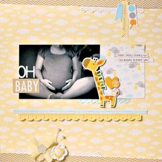 Oh Baby by Deanna Misner featuring Bella Blvd Baby/Expecting Collection Pregnancy Scrapbook, Baby Girl Scrapbook, Baby Scrapbook Pages, Scrapbook Cards, Scrapbook Designs, Scrapbook Page Layouts, Scrapbooking Ideas, Online Photo Book Maker, Baby Book Pages