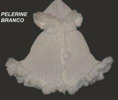 PELERINE pompom ( ponCho) VARIAS CORES VESTE DE 09 MESES A 03 ANINHOS -
