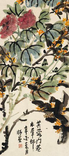 陈师曾作 芙蓉花开 1921年 . Chen Shizeng( 陈师曾1876 - 1923), original name Chen Hengke, courtesy name Shizeng, art name Xiudaoren Xiuzhe, was a Chinese painter and critic, painter, and educator of early 20th-century China. At a time when some Chinese artists were rejecting traditional painting styles in favor of Western influenced styles, Chen championed traditional literati art in his own art and in his A Study of Chinese Literati Painting.