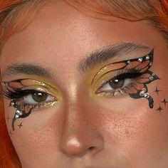 Edgy Makeup, Makeup Eye Looks, Eye Makeup Art, Cute Makeup, Pretty Makeup, Skin Makeup, Eyeshadow Makeup, Makeup Inspo, Makeup Inspiration