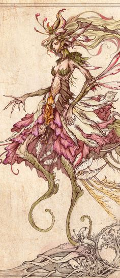 Florel fairy tale version by *muju on deviantART (cropped to show detail)