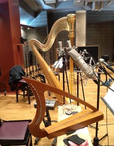 Recording session with harps Gypsy Rose, Music Love, Harp, Celtic, Addiction, Outdoor Decor, Image, Inspiration, Biblical Inspiration