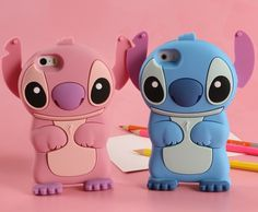 Stich Case 3D Cute Silicone Cover For iPhone 5 5S Cases, Fashion 3D Stitch Back Housing Case for iPhone5, Free Shipping