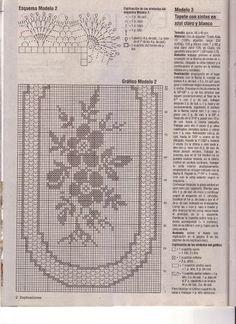 Crochet Knitting Handicraft: Rectangular napkin