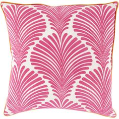 Decorative Debbie Floral Feather/ Down or Polyester Filled 22-inch Pillow (Feather and Down), Pink, Size 22 x 22