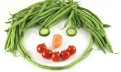 face on a plate with fruit and veg - Google Search