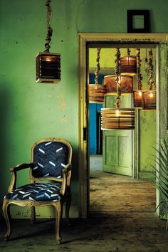 lamps, wall color, chair, floor