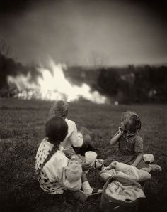 Sally Mann, They're not running away when they could? Contrasts the holocaust when they could not run away from death