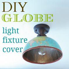 DIY {Half} Globe Light Fixture Cover