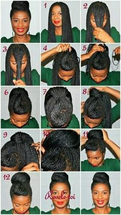 Box Braids/Marley Twist. Hairstyle inspiration for box braids.