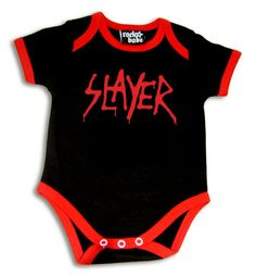 SLAYER LOGO BLACK BABY SUIT SHIRT HEAVY METAL ROCK ROMPER 6-12 MONTHS red | eBay