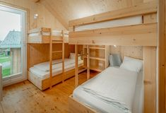 Total of 3 double bedrooms plus one bunk room at Chalet Bergfalter - 10 guests in total! Double Bedroom, Bunk Beds, Bedrooms, Furniture, Home Decor, Couple Room, Decoration Home, Double Room, Loft Beds