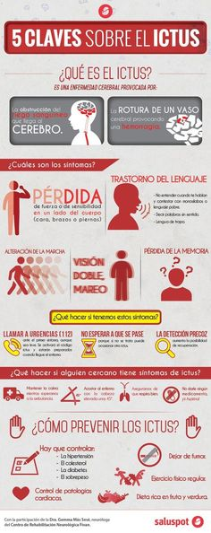 5 claves para reconocer un ictus. #infografia #ictus Health And Safety, Health And Wellness, Health Tips, Health Care, Health Fitness, Medicine Student, Studying Medicine, Nursing Tips, Med Student