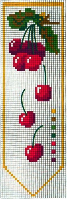 cuisine - kitchen - cerise - point de croix - cross stitch - Blog : http://broderiemimie44.canalblog.com/