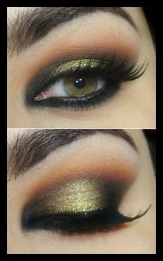 #greengold #brown #eyemakeup