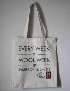 Wool Week Project Bag - Jamieson and Smith