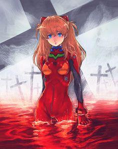 Evangelion, Asuka, by boyaking(SBF)