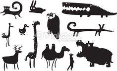 Vector Art : Set of funny animals