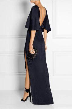 Cushnie et Ochs - Open-back stretch-satin jersey maxi dress Elegant Dresses, Pretty Dresses, Sexy Dresses, Beautiful Dresses, Formal Dresses, Fashion Mode, Fashion Outfits, Street Fashion, Gala Dresses