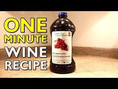 1 Minute Video Showing How To Make 1 Minute Wine!