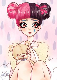 A little while ago I got Melanie Martinez's new CD; Cry Baby <3 Literally every song on her album is perfection, I'm obsessed with it~ I love her, I love her theme so I drew Cry Baby...