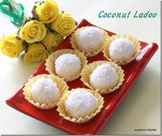 2 ingredient coconut ladoo: 2 cups of coconut (ground to smaller sized strands) to 1 cup of condensed milk