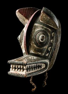 Africa   Zoomorphic mask from the Nunuma people of Burkina Faso   wood, pigment   ca. 1977