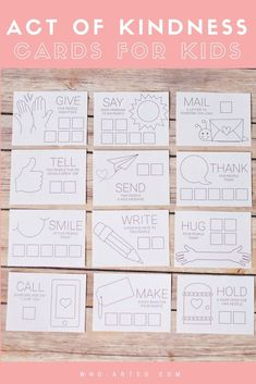 Acts of Kindness cards for kids. A great way to challenge children to think outside of themselves! Happy Love, Love You, My Love, Kindness For Kids, Kindness Ideas, Good Morning People, Acts Of Love, Crafts For Girls, Kids Cards