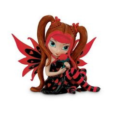 Heart Health Hope Fairy. www.teeliesfairygarden.com. . . The heart Health hope fairy is a splendid Valentine's day fairy. Everything she features resembles the romantic season – the color red, the heart wings and the rose. #strangelingfairy