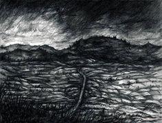 A bright and breezy little landscape sketch  #art #artist  #illustration #darkart #pencildrawing #pencil #charcoal #landscape #blackandwhite #doodle #sketch #sketchbook  #roboellis #mrrichardellis by mrrichardellis