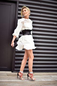 cute dress. Sofie in Antwerp. #Fashionata