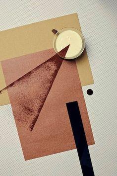 Bauhaus/Kandinsky/Mondrian style coffee photo
