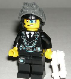 LEGO Ultra Agents CURTIS BOLT Minifigure Minifig w/ White Blaster Gun 70165 #LEGO