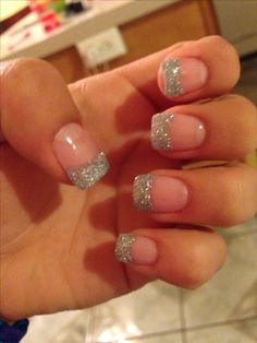 Prom nails- so simple and elegant. love these