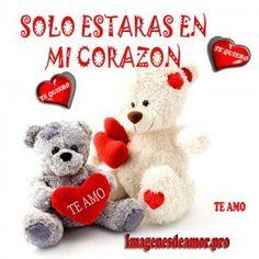 Imagen de amor de ositos tiernos y corazones - http://www.imagenesdeamor.pro/2013/08/imagen-de-amor-de-ositos-tiernos-y-corazones.html